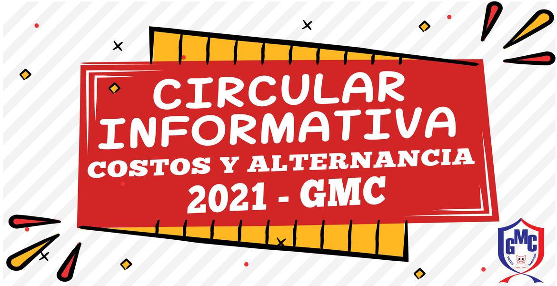 informacion alternancia y costos GMC 2021